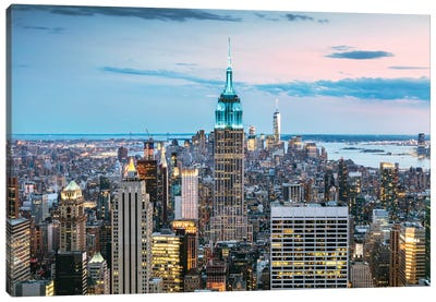Skyline At Dusk I, Midtown, New York City, New York, USA Canvas Art Print