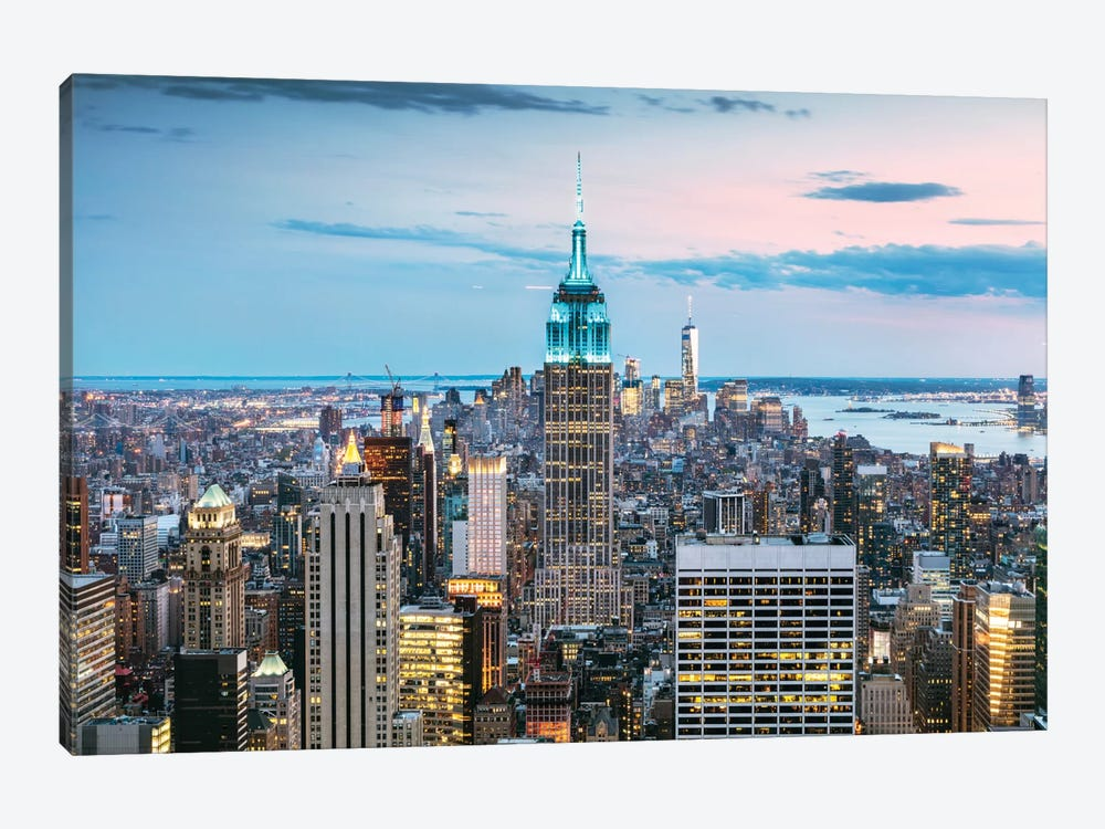 Skyline At Dusk I, Midtown, New York City, New York, USA by Matteo Colombo 1-piece Canvas Art