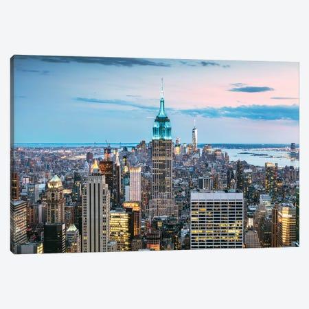 Skyline At Dusk I, Midtown, New York City, New York, USA Canvas Print #TEO79} by Matteo Colombo Canvas Art Print