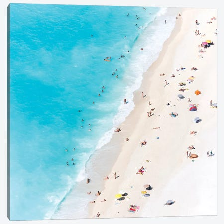 Aerial View Of Myrtos Beach V, Cephalonia, Ionian Islands, Greece Canvas Print #TEO7} by Matteo Colombo Canvas Wall Art