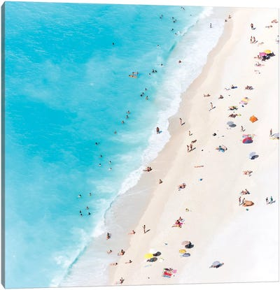 Aerial View Of Myrtos Beach V, Cephalonia, Ionian Islands, Greece Canvas Art Print