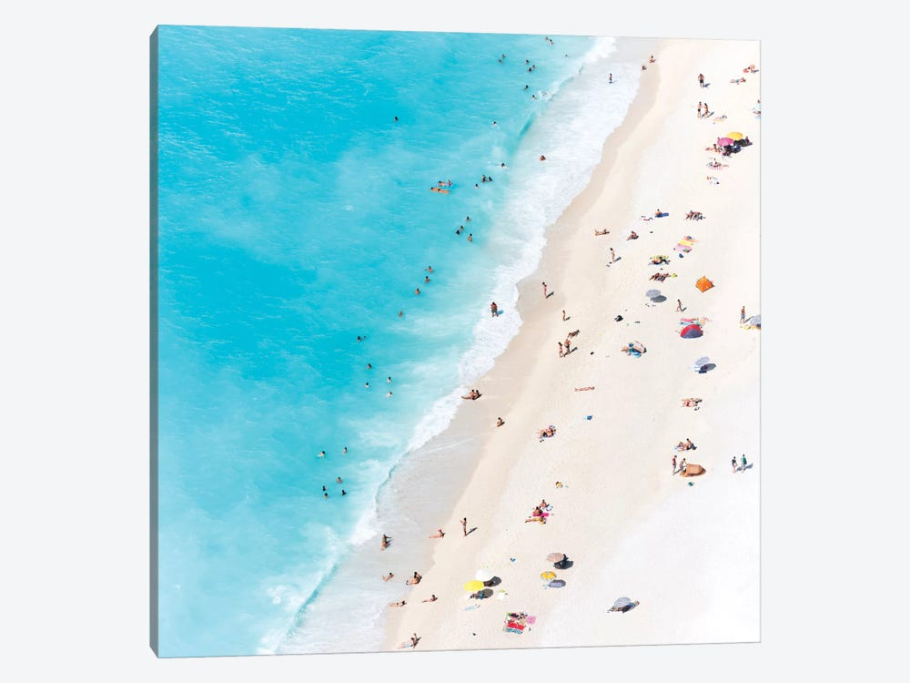 Aerial View Of Myrtos Beach V, Cephalonia, Ionian Islands, Greece by Matteo Colombo 1-piece Canvas Art Print