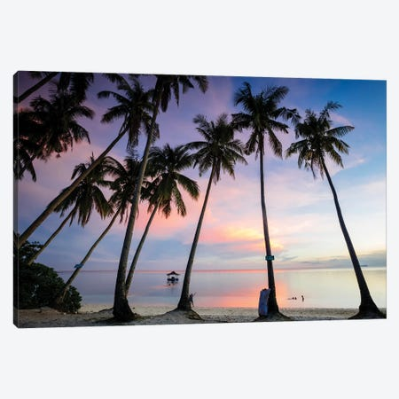 Beach Sunset, Philippines Canvas Print #TEO801} by Matteo Colombo Canvas Art