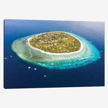 Tropical Island From The Top, Philippines Canvas Print #TEO803} by Matteo Colombo Canvas Wall Art