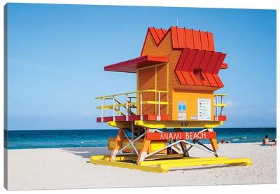 Lifeguard Cabin, South Beach, Miami I Canvas Art Print