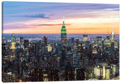 Skyline At Dusk II, Midtown, New York City, New York, USA Canvas Art Print