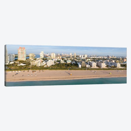 Miami Beach Panorama Canvas Print #TEO810} by Matteo Colombo Canvas Art Print