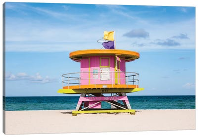 Lifeguard Cabin, South Beach, Miami II Canvas Art Print