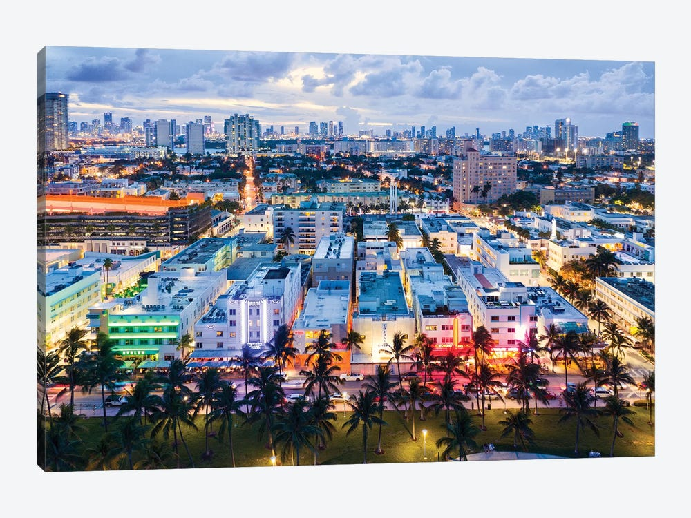 Ocean Drive And Skyline, Miami by Matteo Colombo 1-piece Art Print