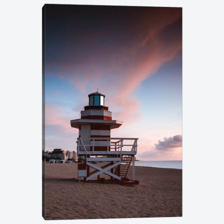 South Beach Dawn, Miami Canvas Print #TEO814} by Matteo Colombo Canvas Art
