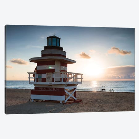 Sun Rising Over Miami 3-Piece Canvas #TEO815} by Matteo Colombo Canvas Wall Art