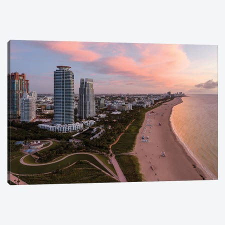 South Beach From The Air, Miami Canvas Print #TEO816} by Matteo Colombo Canvas Wall Art