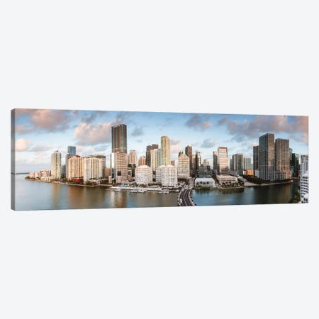 Miami Downtown At Sunrise Canvas Print #TEO817} by Matteo Colombo Canvas Wall Art