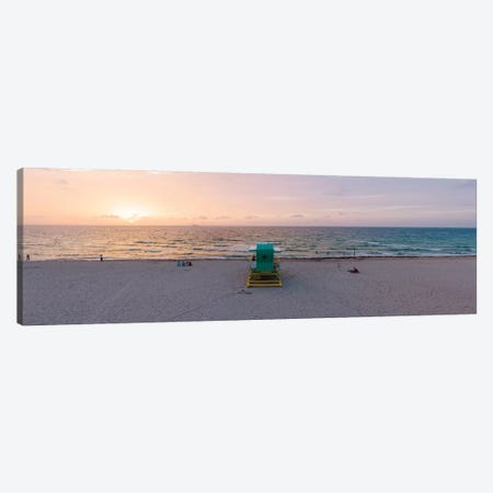 Panoramic Sunrise Over Miami Beach Canvas Print #TEO819} by Matteo Colombo Canvas Art Print