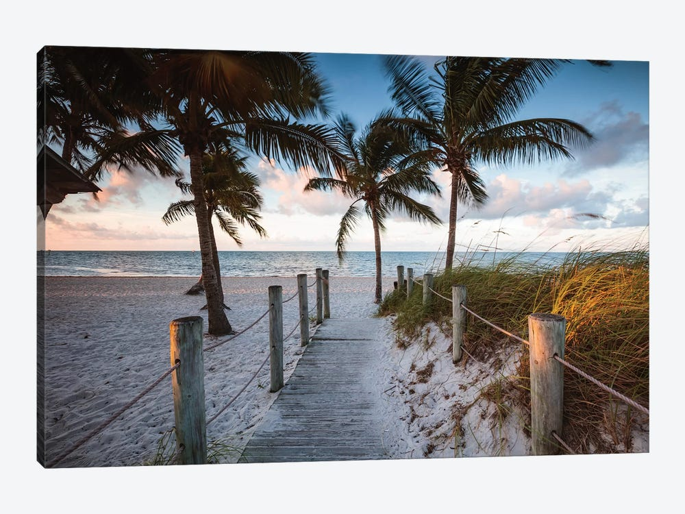 Beach Sunrise, Key West I by Matteo Colombo 1-piece Canvas Art Print