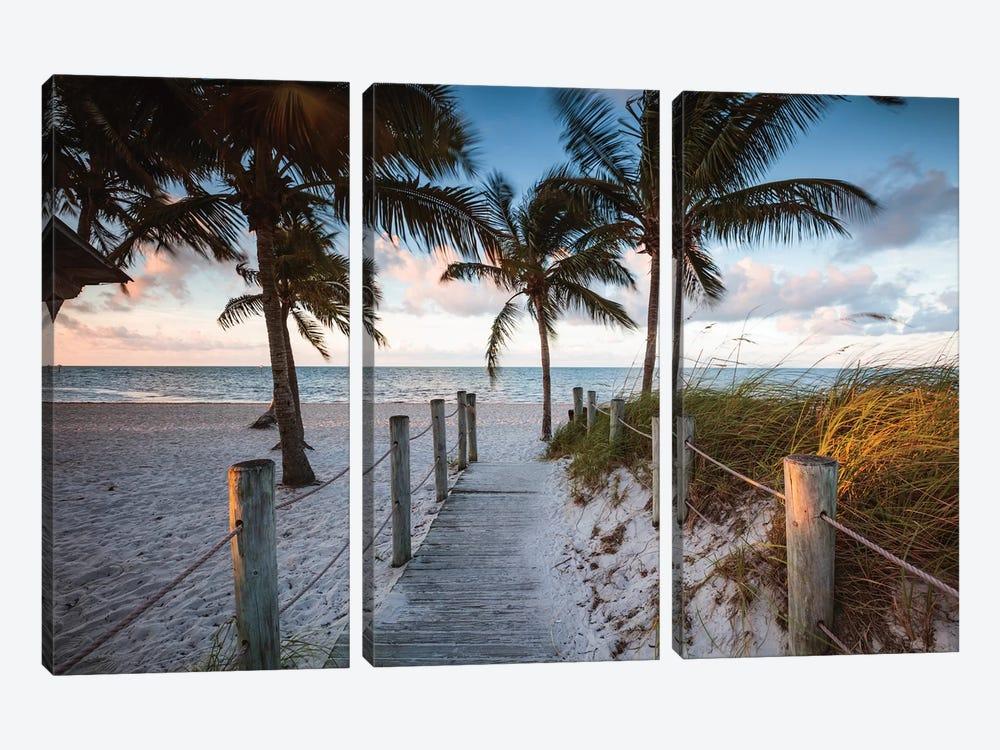 Beach Sunrise, Key West I by Matteo Colombo 3-piece Canvas Art Print