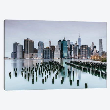 Skyline, Lower Manhattan, New York City, New York, USA Canvas Print #TEO82} by Matteo Colombo Canvas Artwork
