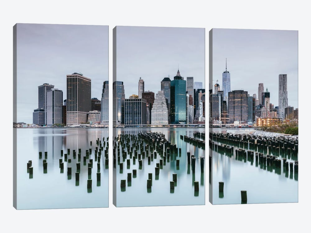 Skyline, Lower Manhattan, New York City, New York, USA by Matteo Colombo 3-piece Canvas Wall Art