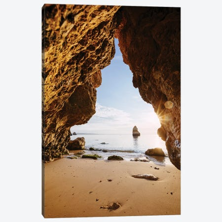 Beach Cave, Portugal Canvas Print #TEO833} by Matteo Colombo Canvas Art Print