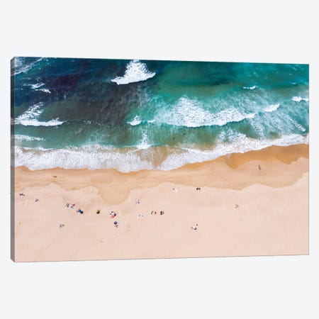 Beach Aerial, Portugal Canvas Print #TEO836} by Matteo Colombo Canvas Wall Art