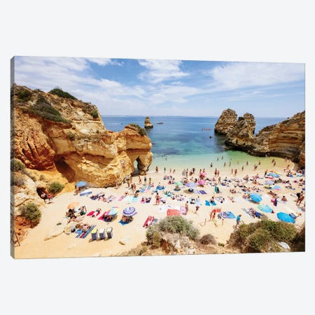 At The Beach, Portugal Canvas Print #TEO839} by Matteo Colombo Canvas Art Print