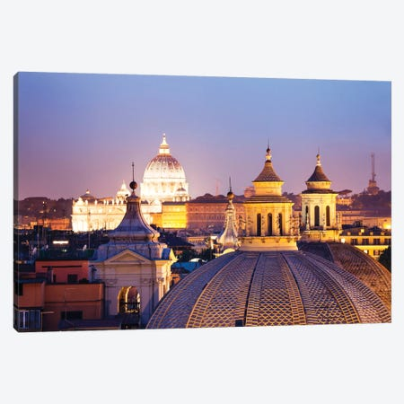 St. Peter's Basilica Dome As Seen From Campo Marzio, Rome, Lazio, Italy Canvas Print #TEO83} by Matteo Colombo Canvas Artwork