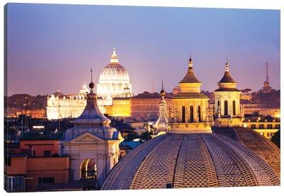 St. Peter's Basilica Dome As Seen From Campo Marzio, Rome, Lazio, Italy Canvas Art Print