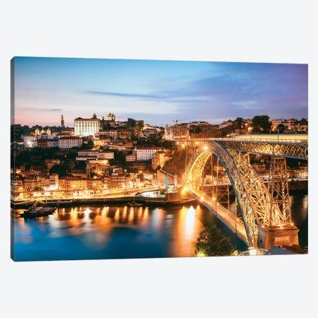 Night In Porto Canvas Print #TEO847} by Matteo Colombo Art Print