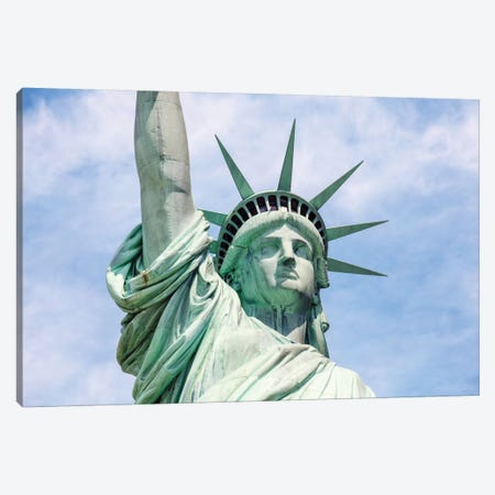 Statue Of Liberty In Zoom, New York City, New York, USA Canvas Print #TEO84} by Matteo Colombo Canvas Art Print
