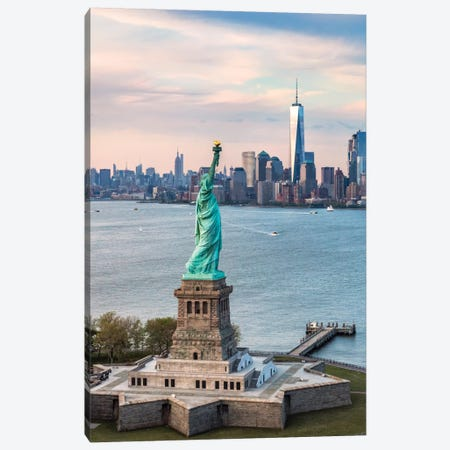 Statue Of Liberty, New York City, New York, USA Canvas Print #TEO85} by Matteo Colombo Canvas Art Print