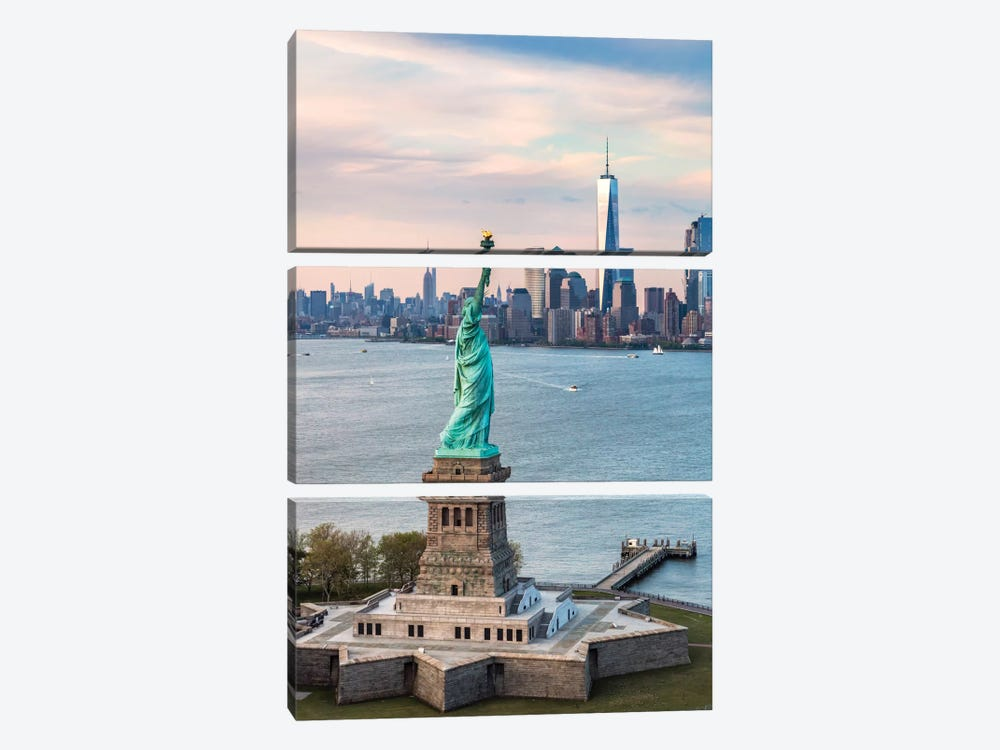 Statue Of Liberty, New York City, New York, USA by Matteo Colombo 3-piece Art Print