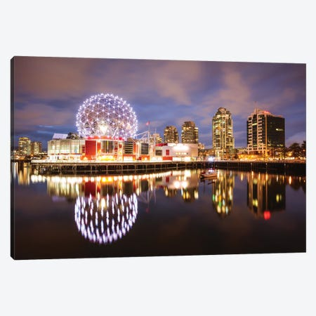 Night In Vancouver Canvas Print #TEO860} by Matteo Colombo Canvas Art