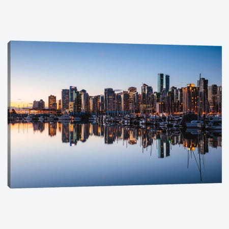 Vancouver Skyline Canvas Print #TEO862} by Matteo Colombo Canvas Art