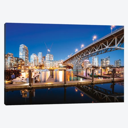 Vancouver Harbor Canvas Print #TEO863} by Matteo Colombo Canvas Art