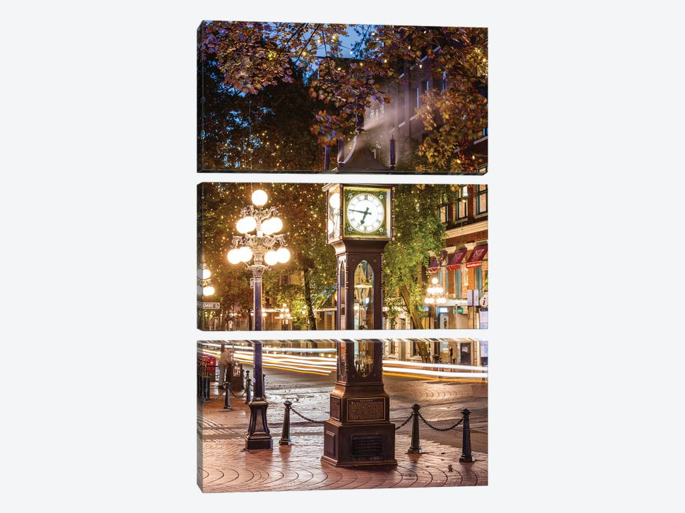 Gastown, Vancouver by Matteo Colombo 3-piece Canvas Print