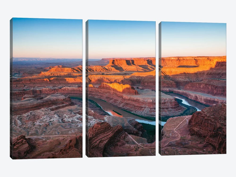 Sunrise, Dead Horse Point State Park, Utah, USA by Matteo Colombo 3-piece Canvas Art Print