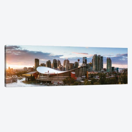 Sunset In Calgary I Canvas Print #TEO885} by Matteo Colombo Canvas Print