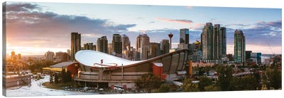 Sunset In Calgary I Canvas Art Print