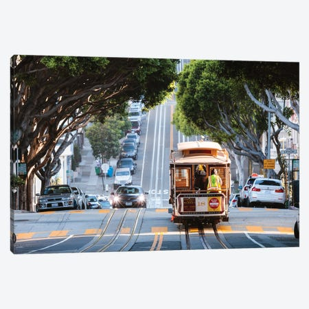 San Francisco Tram I Canvas Print #TEO888} by Matteo Colombo Canvas Wall Art
