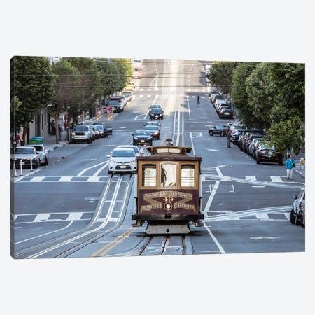 San Francisco Tram Ii Canvas Print #TEO889} by Matteo Colombo Canvas Wall Art