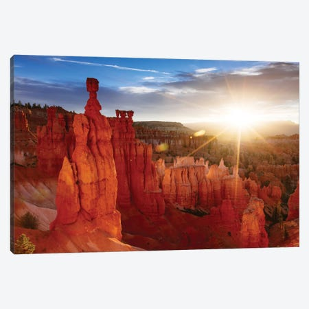 Sunrise, Thor's Hammer, Bryce Canyon National Park, Utah, USA Canvas Print #TEO88} by Matteo Colombo Canvas Wall Art