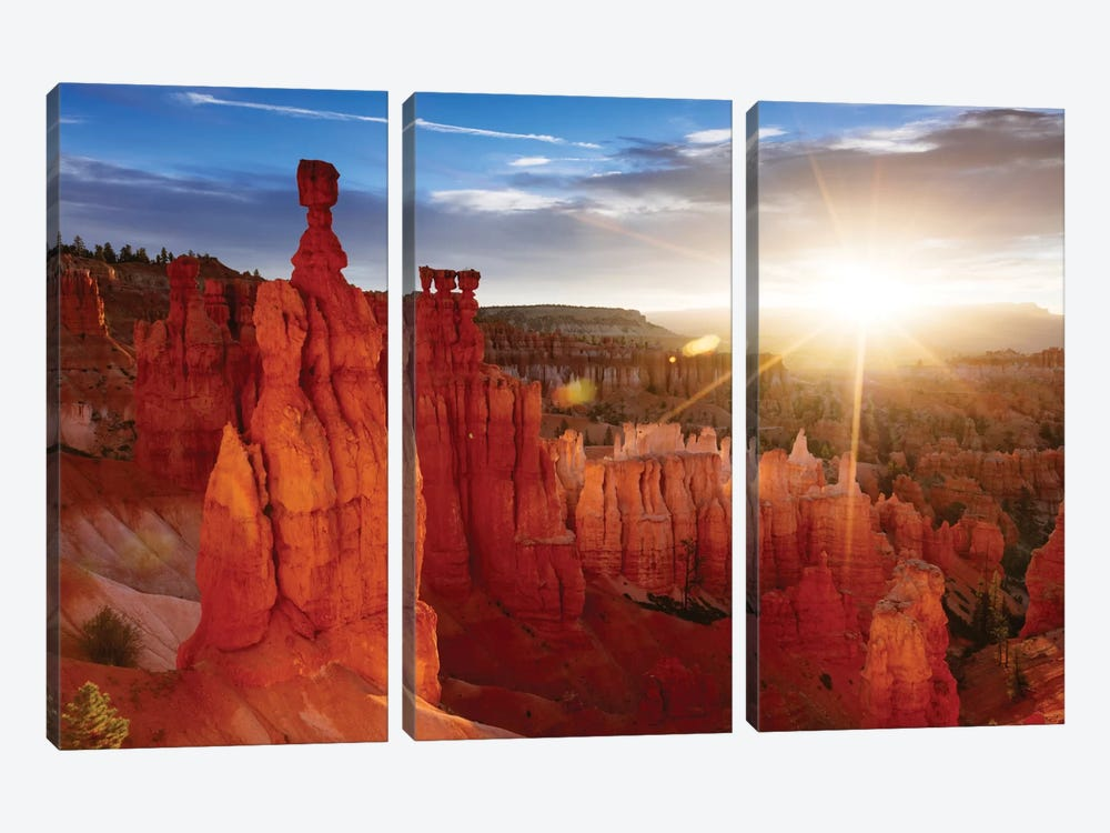 Sunrise, Thor's Hammer, Bryce Canyon National Park, Utah, USA by Matteo Colombo 3-piece Canvas Artwork