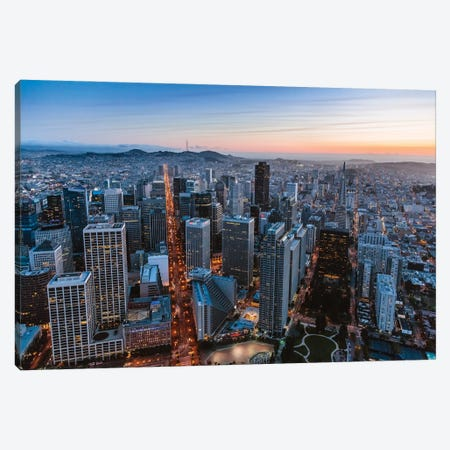 Dusk In San Francisco Canvas Print #TEO892} by Matteo Colombo Canvas Art Print