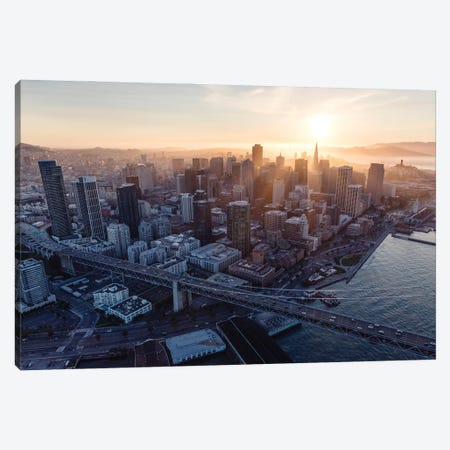 Sunset In San Francisco Canvas Print #TEO893} by Matteo Colombo Canvas Print