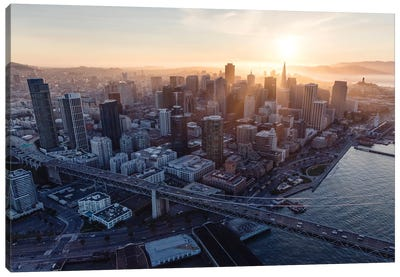 Sunset In San Francisco Canvas Art Print