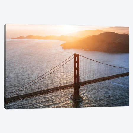 The Golden Gate From Above Canvas Print #TEO894} by Matteo Colombo Canvas Art