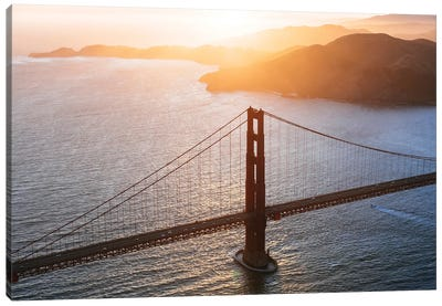 The Golden Gate From Above Canvas Art Print