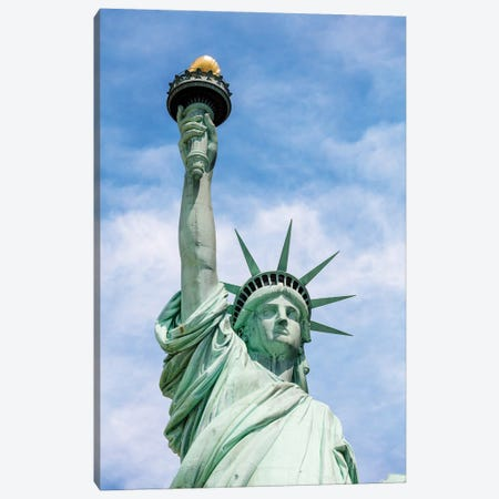Lady Liberty Canvas Print #TEO896} by Matteo Colombo Canvas Art