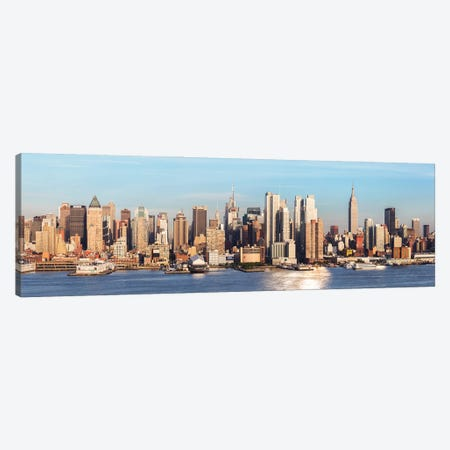 Midtown Manhattan Panorama I Canvas Print #TEO898} by Matteo Colombo Canvas Print