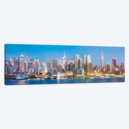 Midtown Manhattan Panorama Ii Canvas Print #TEO899} by Matteo Colombo Canvas Art Print